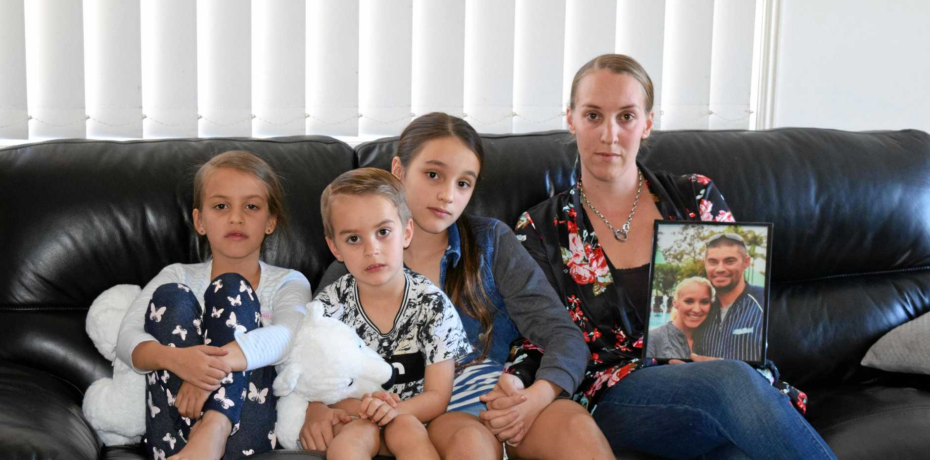 Recent widow Bianca Whish-Wilson and her three children are mourning the loss Brad Davis, a year-on.
