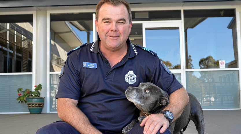 FOND FAREWELL: Popular PCYC branch manager, Sergeant Mick Hughes, will finish next week.