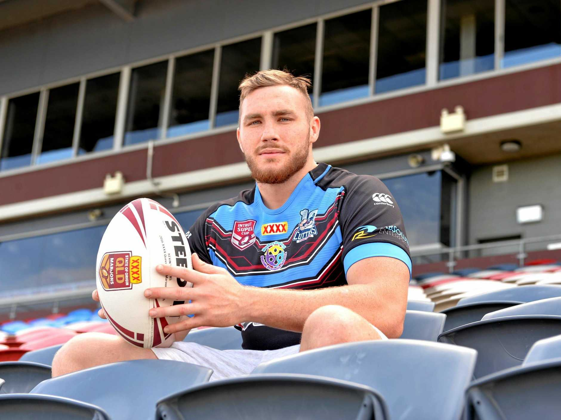 Mackay Cutters' Jordan Grant at BB Print Stadium.