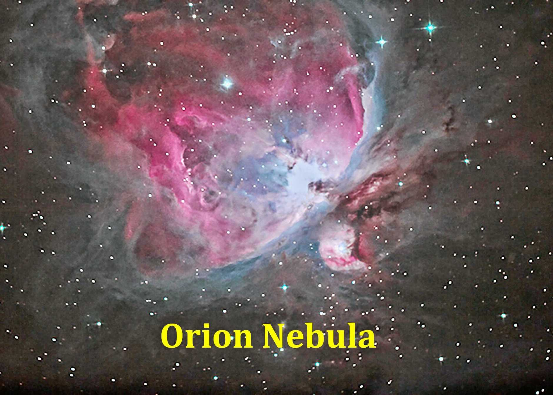 Orion Nebula is typical of a stellar nursery that can form up to 4800 stars a second. Stars take about a millionn years to  grow into a fully grown star, inside theses massive clouds of dust and gas.