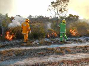 BACKBURN: Hazard reduction fires today