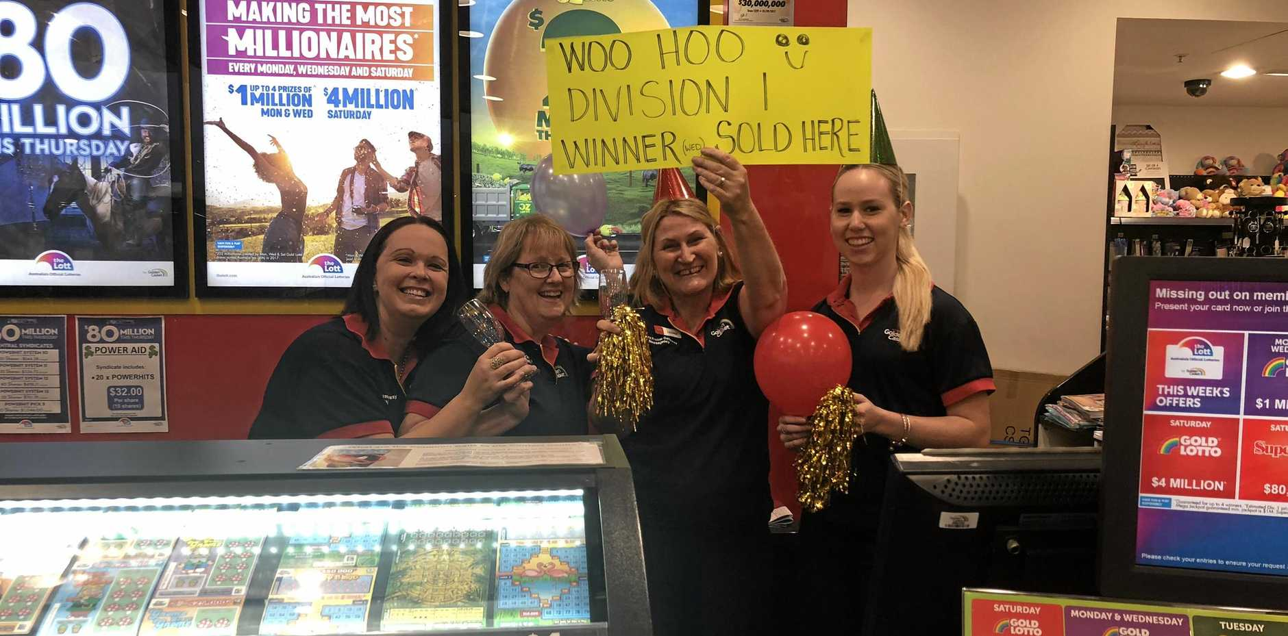 MILLION DOLLAR WINNER: Staff at Nextra Fraser Gateway Newsagency have urged the winner of Division One's million-dollar winner to come forward and claim their prize.