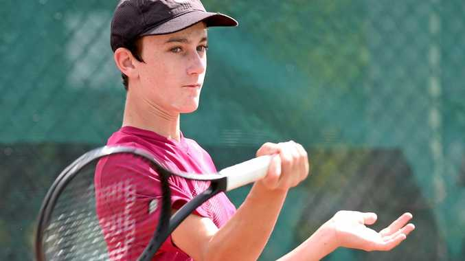 WORLD STAGE: Maryborough tennis player Alec Braund is representing Australia at the ITF World Junior Finals at the Czech Republic this week.