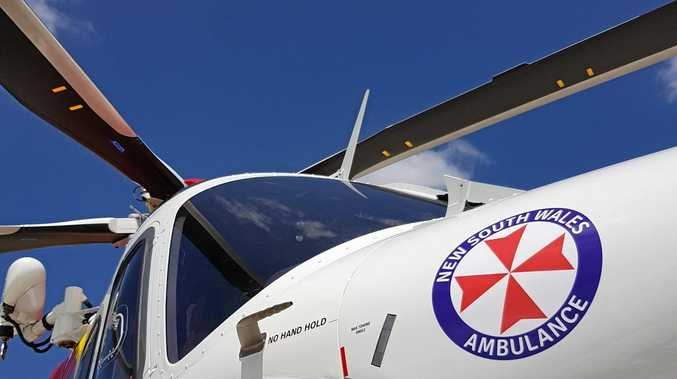 Rescue helicopter dispatched to man burnt in bushfire