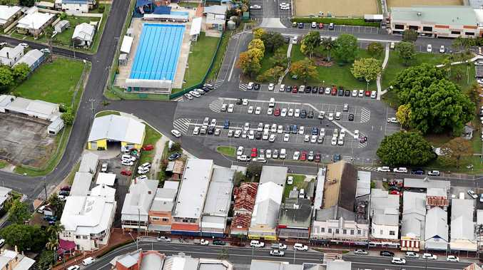 SOURCE OF CONTENTION: The Cameron Park car park in Maclean is currently closed for the construction of Ritchies IGA supermarket.
