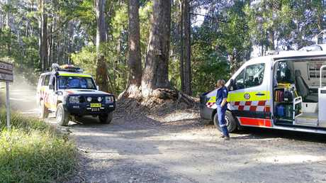 NSW Ambulance transport the injured cyclist to Coffs Harbour Base Hospital.