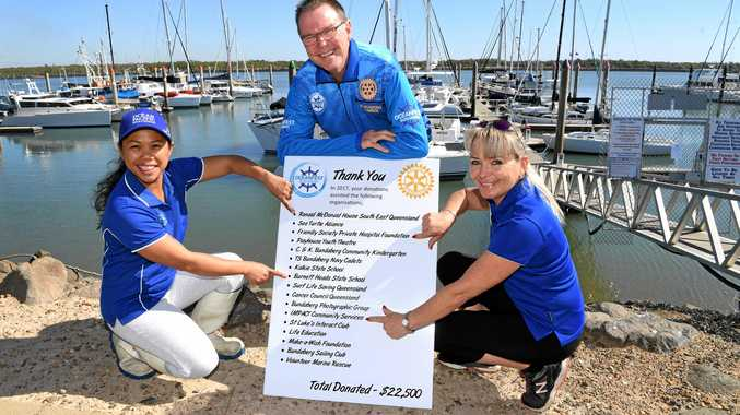 SEA OF SUPPORT: Dominga Eke, Gary Kirk and Sam Jones are excited about this year's Oceanfest at the Bundaberg Port Marina.