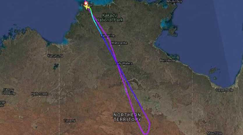 An Air China flight from Shanghai to Melbourne has been forced to land in Darwin. Picture: Flightradar24