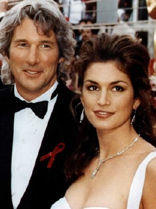 Richard Gere and Cindy Crawford married in 1991 and spilt in 1995. Picture: Supplied