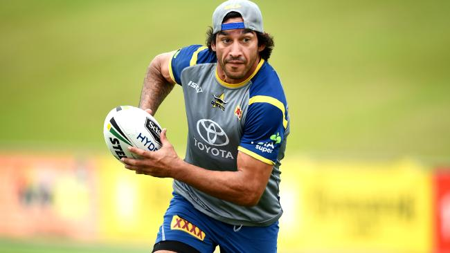 Johnathan Thurston and the Cowboys tackle the Broncos tonight. Picture: Alix Sweeney