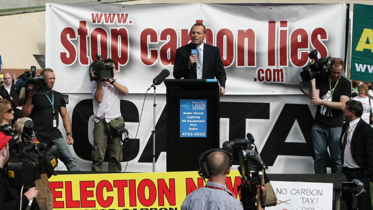 Opposing Labor's carbon tax helped Tony Abbott win the 2013 election.