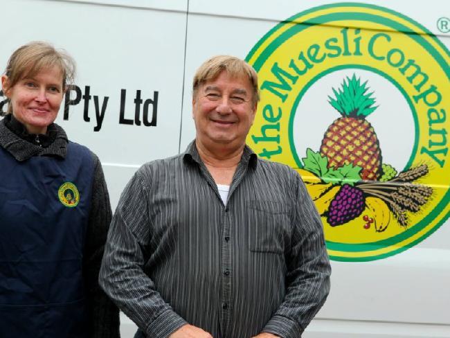 Murder victim Jennifer Borchardt with The Muesli Company business partner Peter Pavlis.