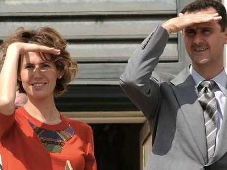 Asma al-Assad and Bashar al-Assad. Picture: Instagram