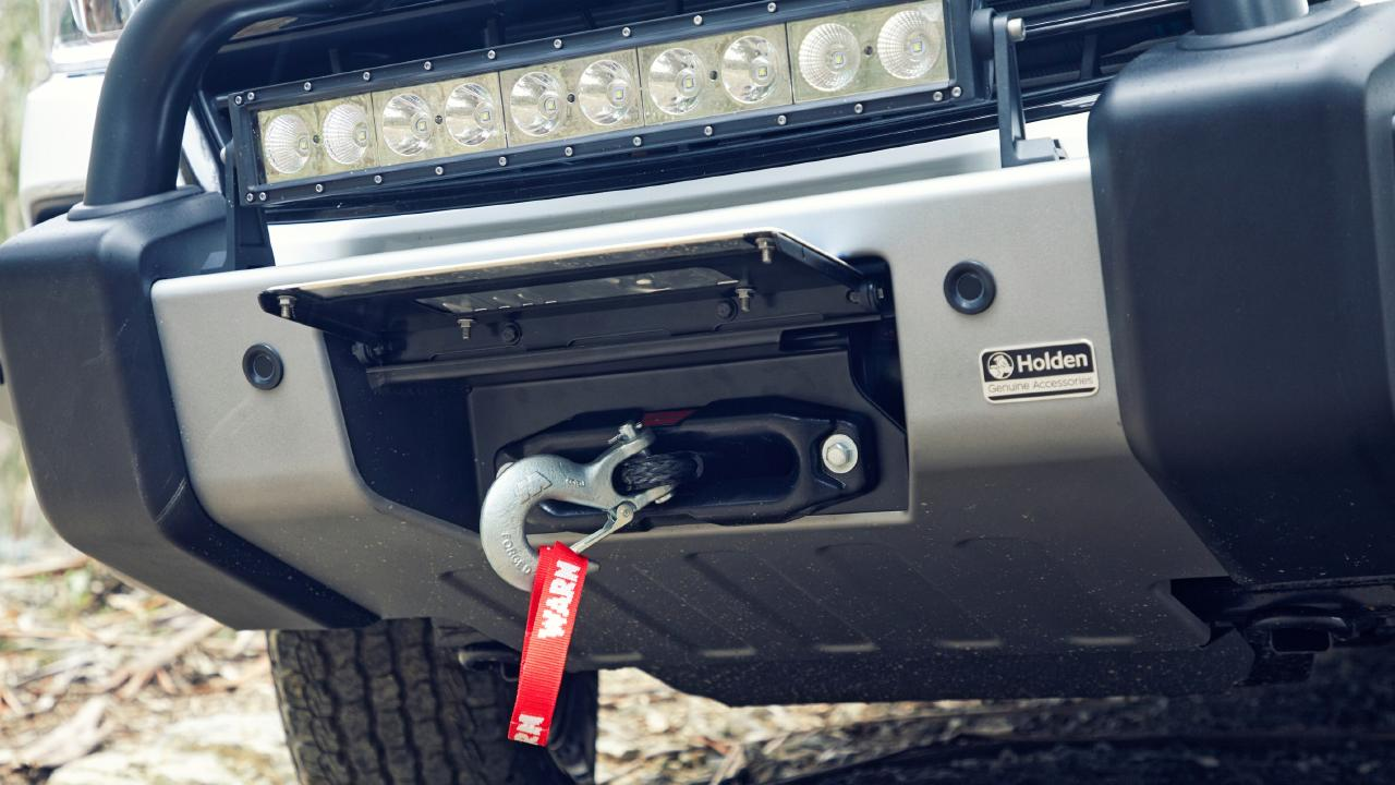 The nudge bar has a flap that hides the winch. Picture: Supplied.