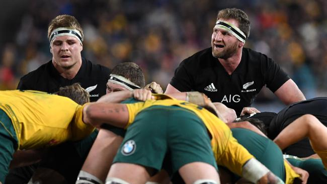 All Blacks Sam Cane and Kieran Read during last year's Bledisloe Cup in Sydney.