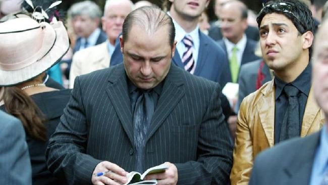 Mokbel at Flemington racecourse on Oaks Day in 2004.