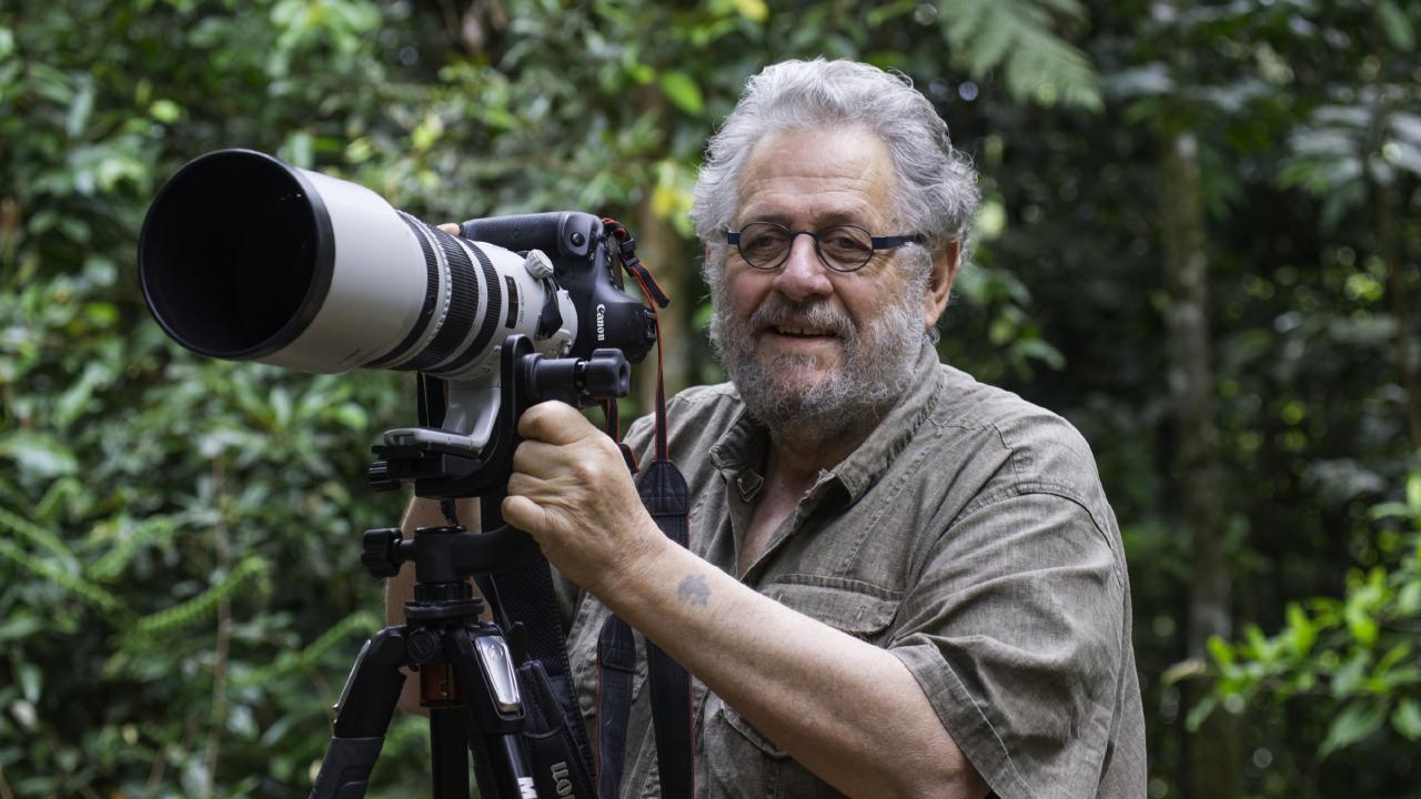Wildlife photographer Steve Parish on location.