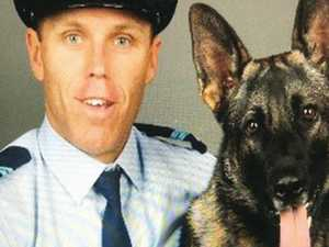 Final goodbye to fallen police dog