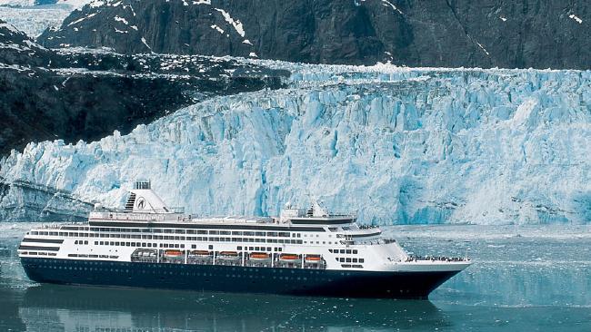 Holland America's Zuiderdam ship during an Alaska cruise.