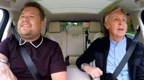 James Corden and Sir Paul McCartney in a previous Carpool Karaoke segment.
