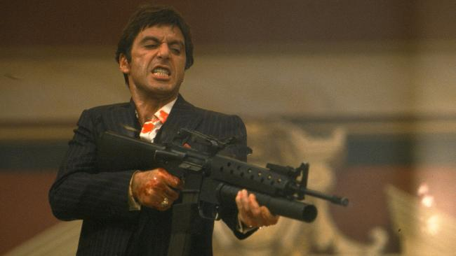 A Scarface memorabilia set was among the items seized. Picture: AP