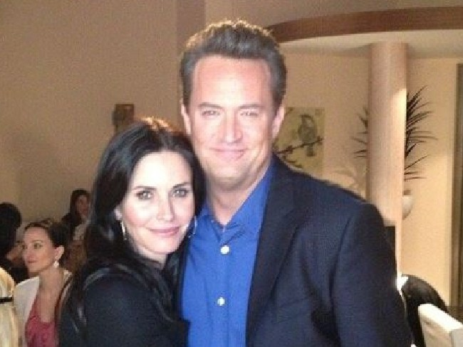 Matthew Perry with his Friends co-star Courteney Cox. Picture: Supplied