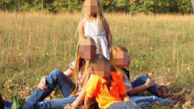 Four adopted children aged between six and 12, were found locked inside boxes on a rural US property in a shocking case of alleged child abuse. Picture: Facebook