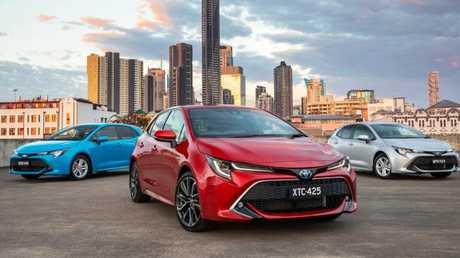 The new Corolla range has bold styling. Picture: Supplied.