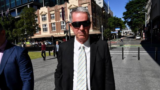 Former Brisbane financial planner Brad Sherwin arrives at the Brisbane District Court last year.