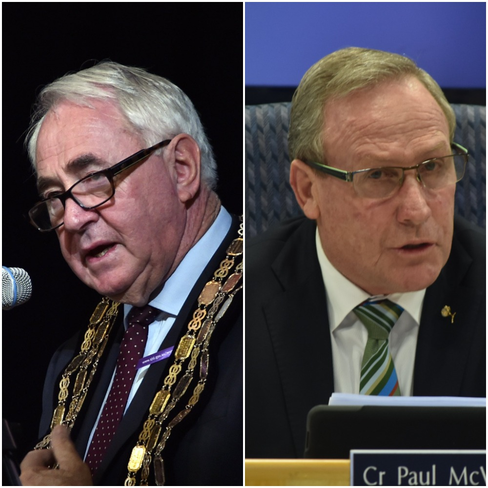 Mayors McVeigh and Antonio both provided character references for the man convicted on grievous bodily harm yesterday.