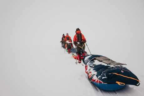 Antarctic Heritage Trust's third Inspiring Explorers' Expedition, crossing Greenland.