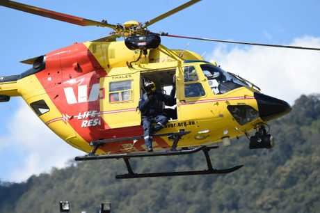 The Westpac Life Saver Rescue will winch crews to the base of a cliff where Mr Roadley's belongings were found on Thursday last week aspart of search efforts to find the missing local.