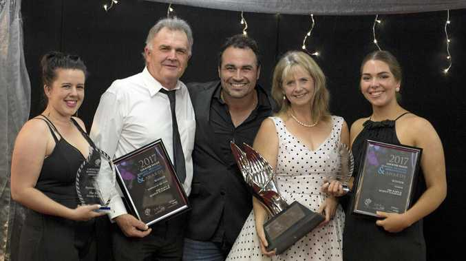 WINNERS: The Barn and Scotty's Garage won 2017 Business of the Year.