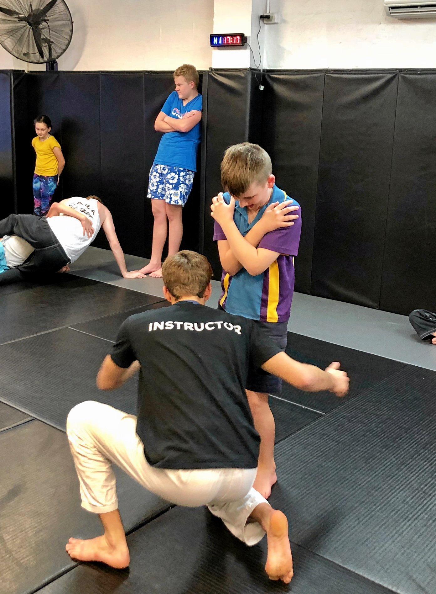 Children with autism enjoy learning self defence skills at the current 6-week jiu-jitzsu  program.