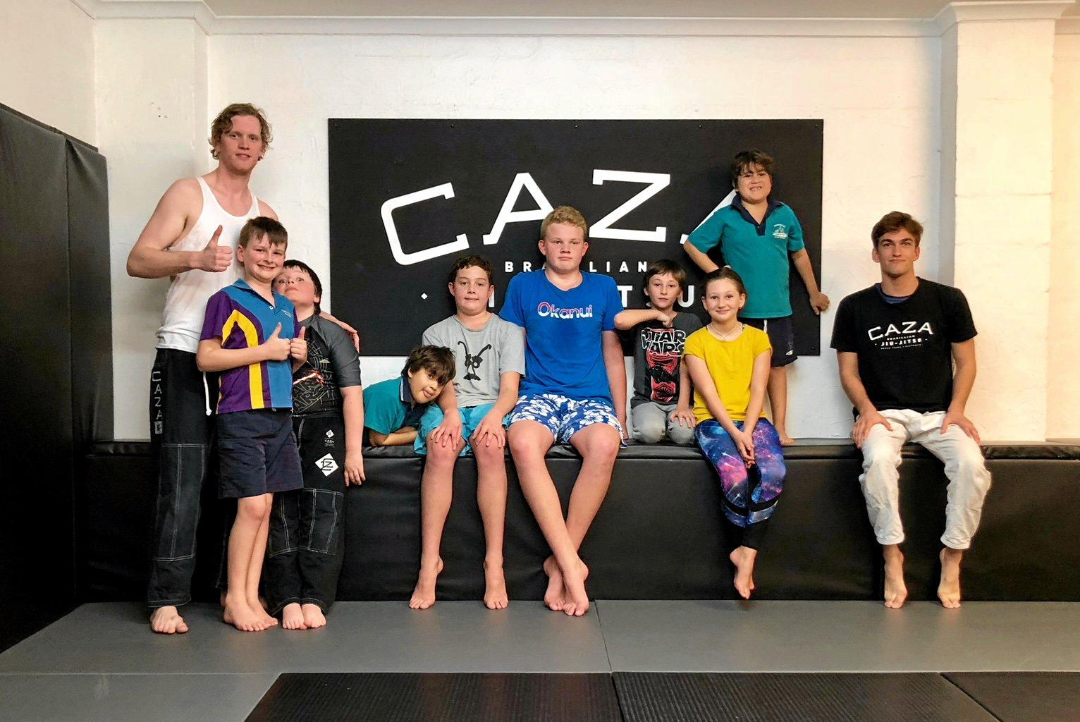 CONFIDENCE: Children with autism participate in self-defence classes.