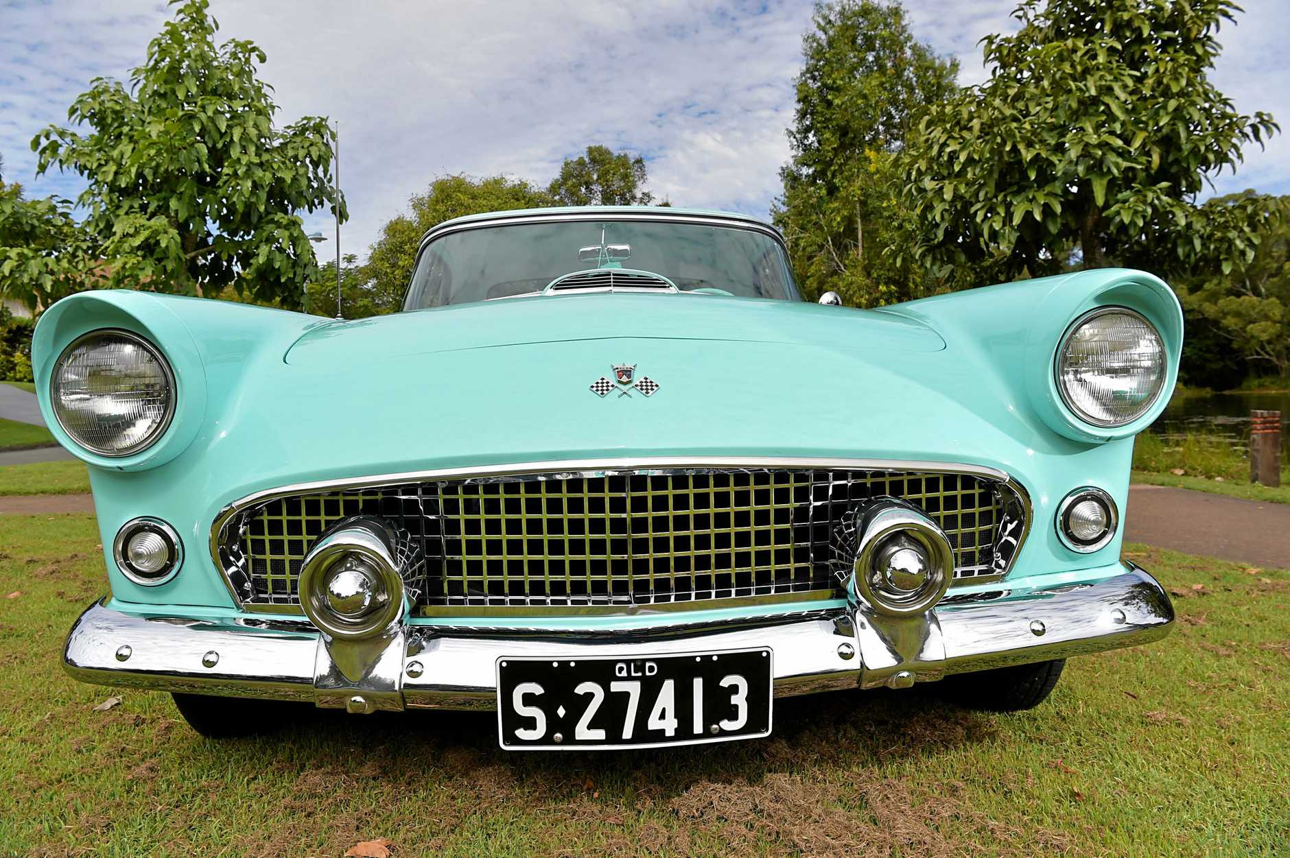1955 Ford Thunderbird owned by Tony Bullock