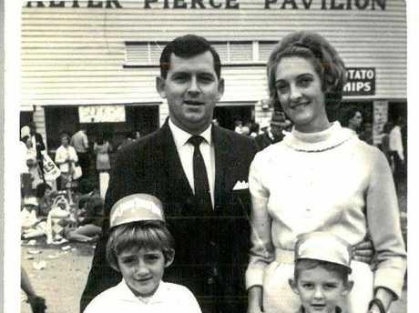 FUN DAY: Bill Martin, Gloria Martin, Michelle Landry (Martin) and Daniel Martin at the Rockhampton Show (approx 1968).