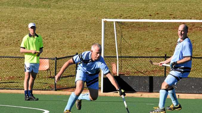 MASTER OF HOCKEY: John Parker (middle) will play for the NSW Over 50 Division 1 team. He will be one of 1500 players from 80 teams to hit the turf when Far North Coast Hockey hosts the 2018 Australian Men's Masters Championships from September 21 to October 6.
