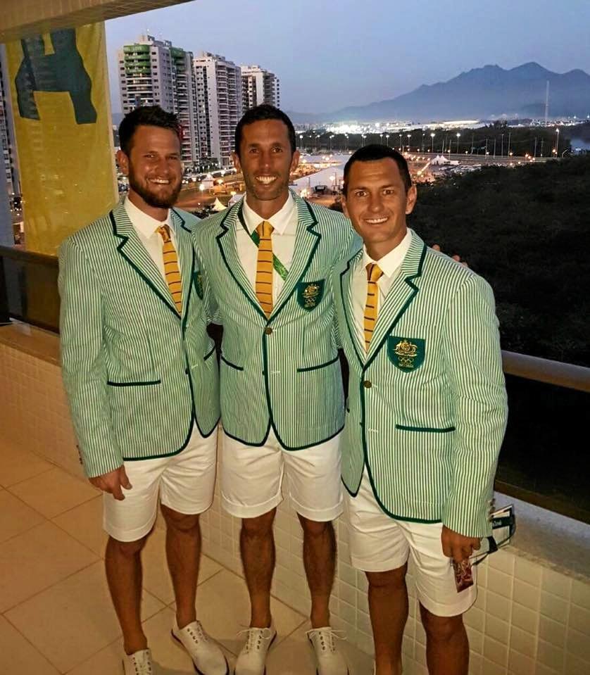Rockhampton's Matt Gohdes, Mark Knowles and Jamie Dwyer in Rio.
