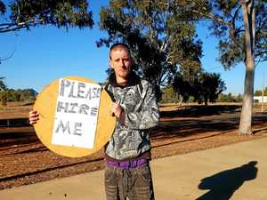 Man takes job hunt to the streets: 'I want to show I'm keen'