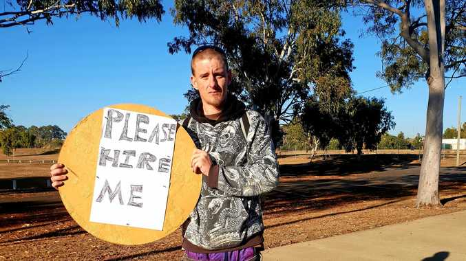 HIRE ME: Tim Somers has been looking for work for seven months. Now, he's taken to the streets and will stop at nothing to get himself a job.