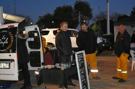 It's Simple coffee van is keeping people warm as the Today Show broadcast from Leslie Park in Warwick.