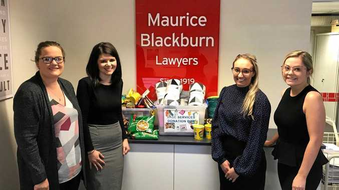 SUPPORT: Maurice Blackburn staff (from left) Sophie Smith, Allison Grimley, Kate Whitehouse and Samantha Walker.