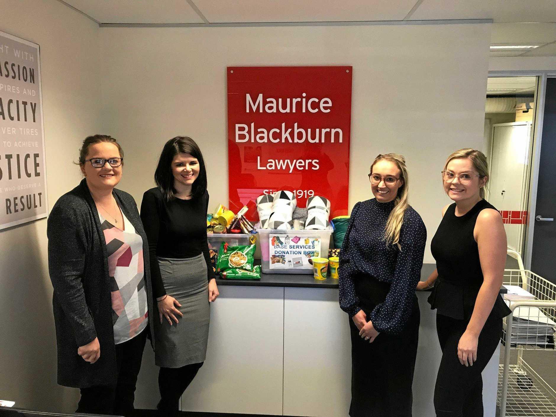 SUPPORT: Maurice Blackburn staff (from left) Sophie Smith, Allison Grimley, Kate Whitehouse and Samantha Walker.