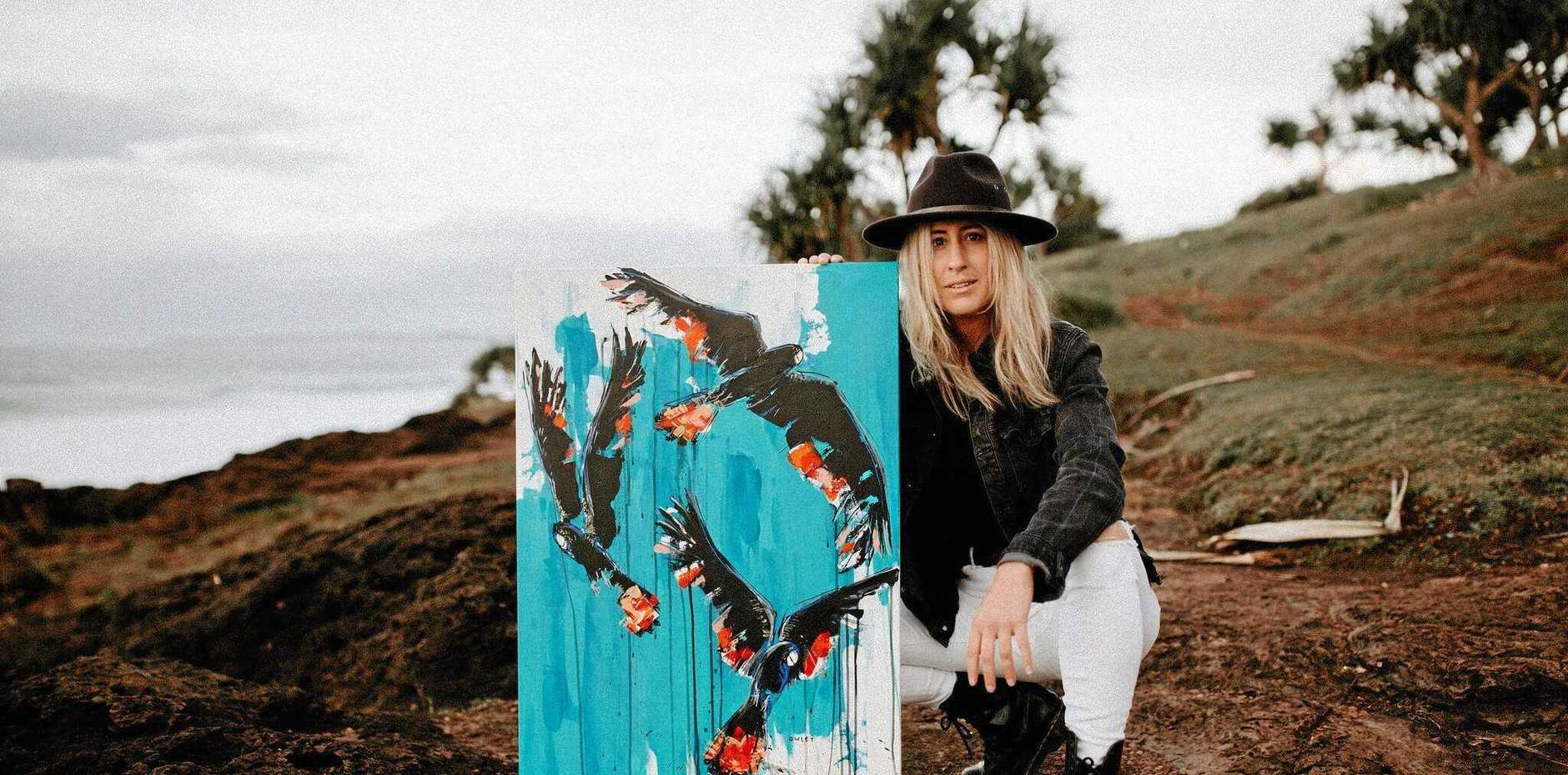 SELECTED: Artist Cara Saunders, aka Owlet, has been commissioned to paint the water tower in Slade Point.