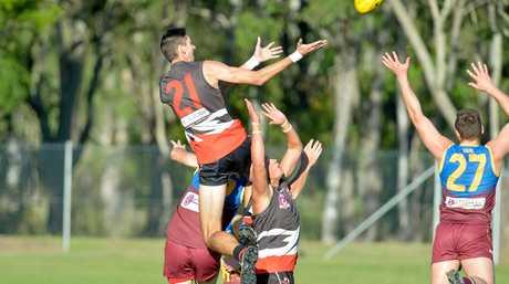 Saints Ky Hull flies high