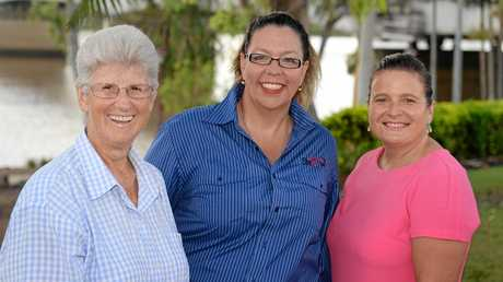 Rockhampton Show Society management committee members in 2015. Dawn Hay (left), Julie Collins and Fionula Fanning are calling for entrants in the Showgirl and Show ambassador competitions.