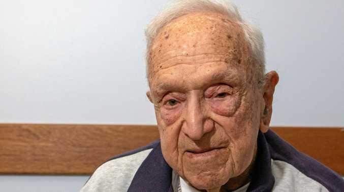 STRENGTH TO STRENGTH: Frank Hubbart, 94, from the Tabeel nursing home in Laidley.