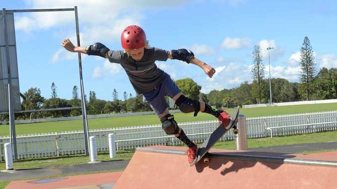 ON THE LIP: Ned Haddrell practices his skills at the Yamba Skate Park at a Skate All Day'event last year. The Yamba Skate Park will host the competition again in September as part of Child Protection Week.