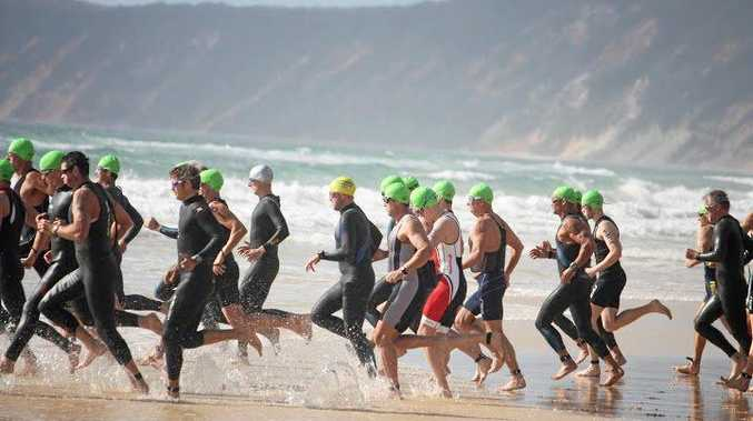 MAKING WAVES: Competitors are gearing up to tackle the Rainbow Beach Triathlon this weekend.